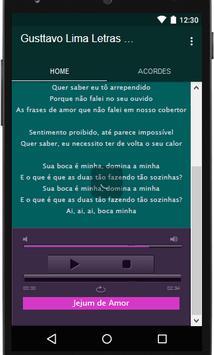 Gusttavo lima Musica Letras apk screenshot
