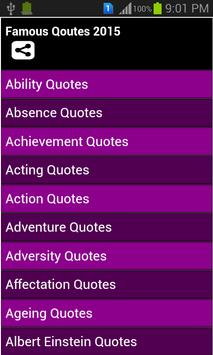 Famous Quotes 2015 poster