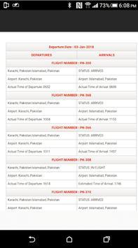 PIA Flight Status apk screenshot