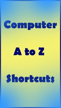 Computer A to Z Shortcuts poster