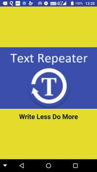 Text Repeater poster