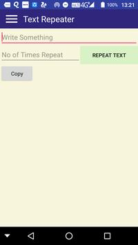Text Repeater screenshot 1
