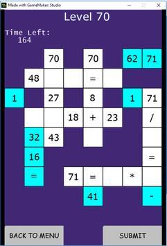 Math Scrabble screenshot 1