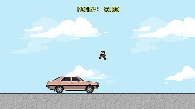 Jump Over Cars for Money apk screenshot
