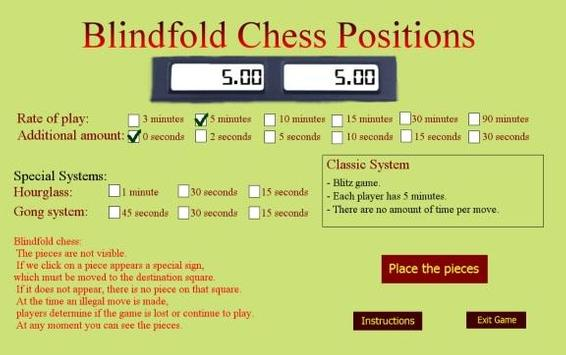 Chess Blindfold Positions poster