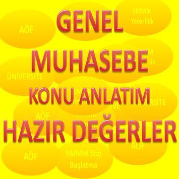 GENEL MUHASEBE HAZIR DEĞERLER poster