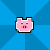 Hungry piglet icon