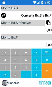 Calculadora Soberana Banplus - Amagi screenshot 1