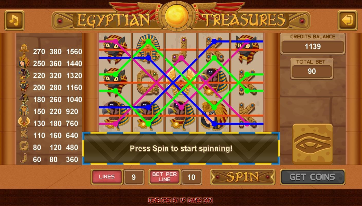 treasures egypt slots free games