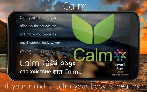 Calm 平静 هدوء спокойствие शांत poster