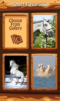 White Horses Zip Lock Screen apk screenshot