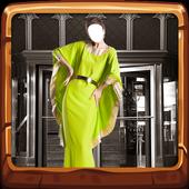 Women Long Dress Photo Camera icon