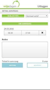 Vrijedagen verlof registratie apk screenshot
