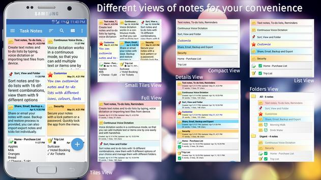 TASK NOTES - Notepad, List, Reminder, Voice Typing screenshot 15