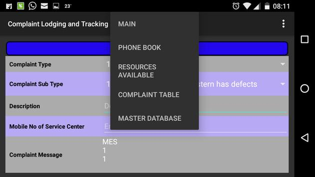 Complaint Lodging and Tracking screenshot 3