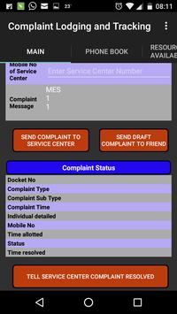 Complaint Lodging and Tracking screenshot 2