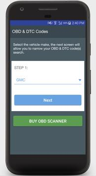 OBD2 Diagnostic App & DTC Code Guide poster