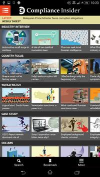 Compliance Insider ® screenshot 1
