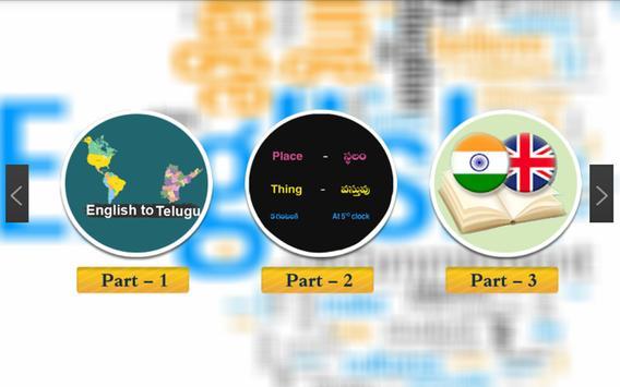 Learn Telugu Through English poster
