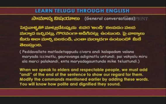 Learn Telugu Through English apk screenshot