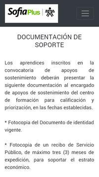 APOYOS DE SOSTENIMIENTO APRENDIZ SENA apk screenshot