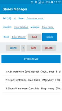 Stores Manager screenshot 1