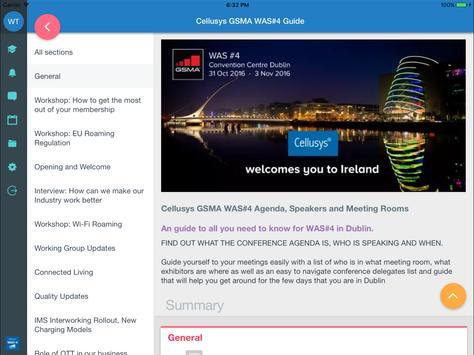 Cellusys GSMA WAS#4 Guide apk screenshot