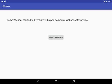 Webser for android screenshot 7
