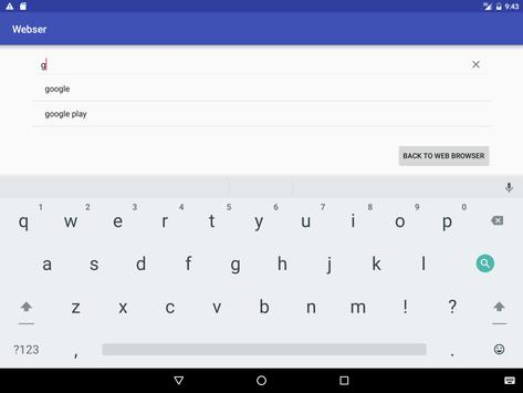 Webser for android screenshot 9