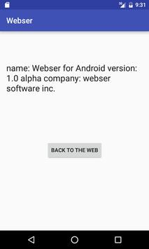 Webser for android screenshot 2