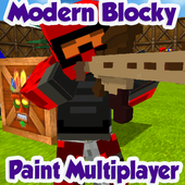 Modern Blocky Paint Online icon