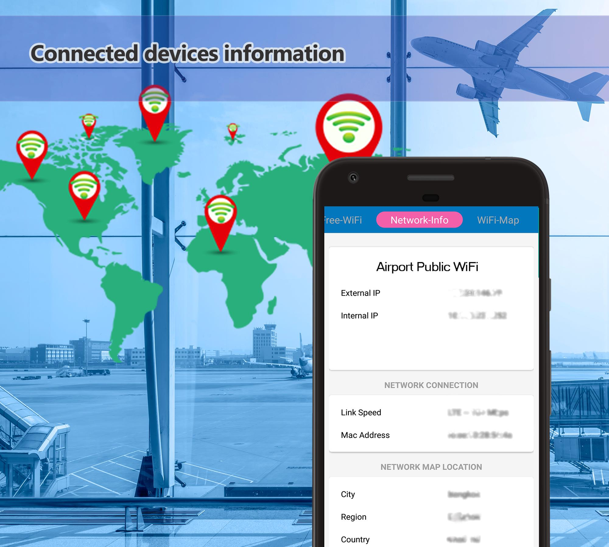 Conexão Wi-Fi - Speed Test - Mapa de rede Wi-Fi para Android - APK