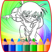 coloring book for conan : coloring kids icon