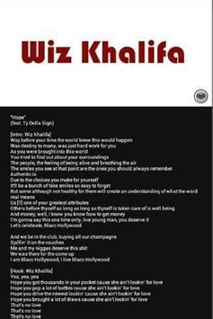 Lyrics Wiz Khalifa screenshot 2
