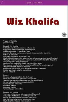 Lyrics Wiz Khalifa screenshot 3