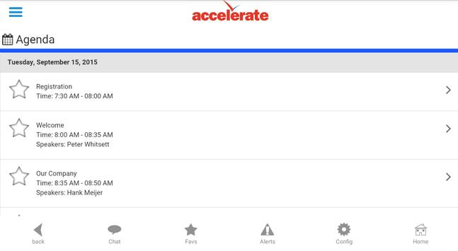 Accelerate Summit 2015 screenshot 1