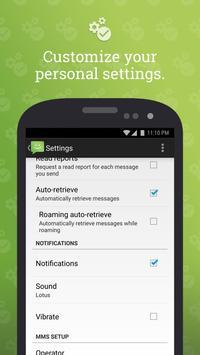 SMS do Android 4.4 imagem de tela 4