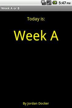 WCGS week A/B poster