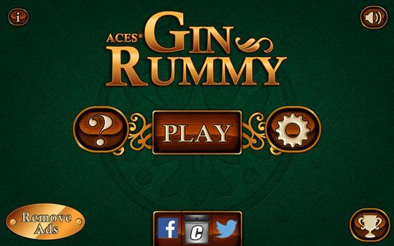 Aces® Gin Rummy Free apk تصوير الشاشة