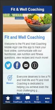 Fit and Well Coach poster