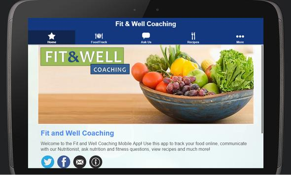 Fit and Well Coach apk screenshot