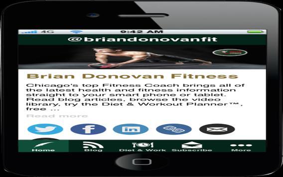 Brian Donovan Fitness apk screenshot