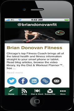 Brian Donovan Fitness poster