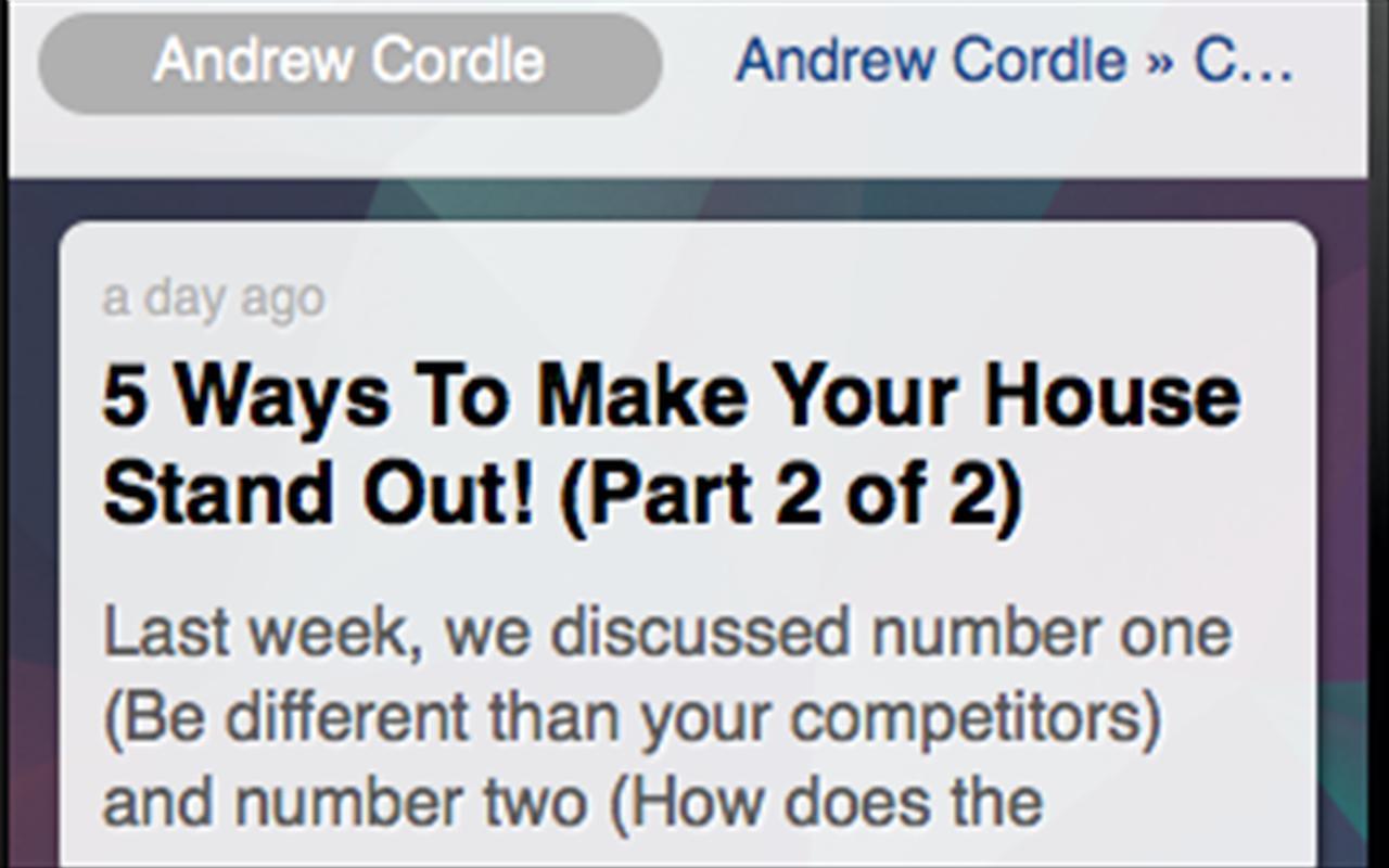 Andrew Cordle poster