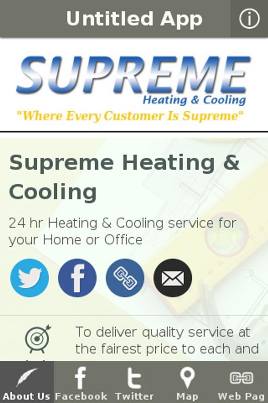 Supreme Heating Cooling Poster