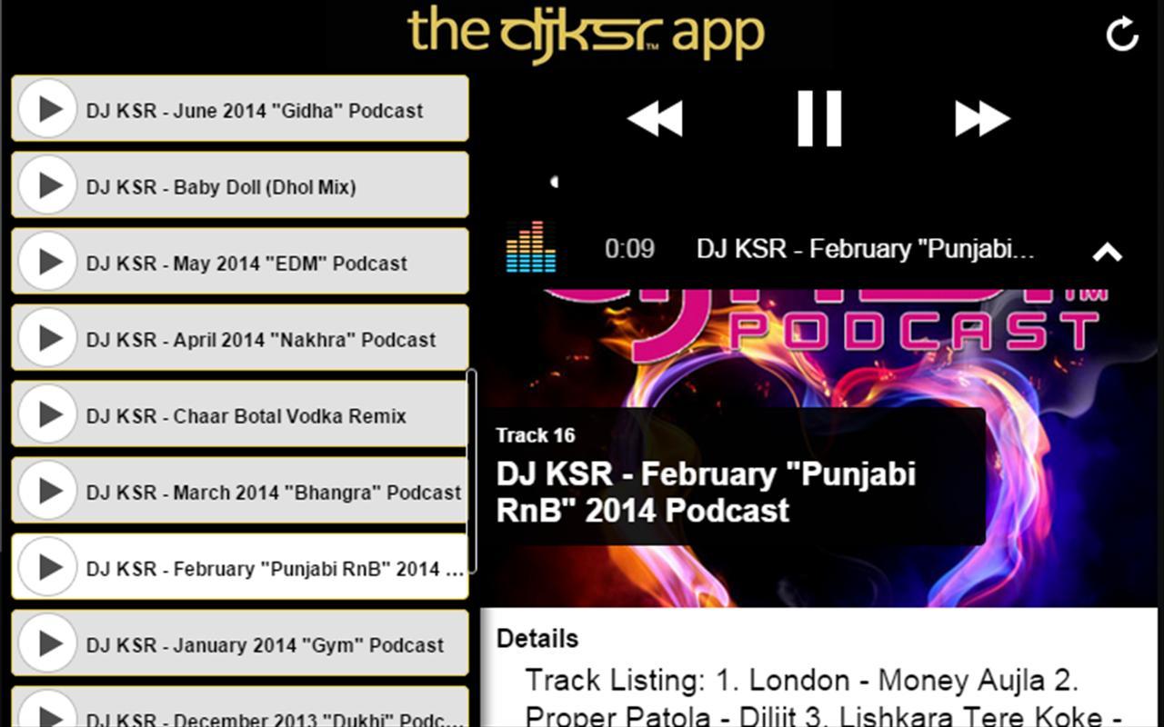 ... The DJ KSR App apk screenshot ...