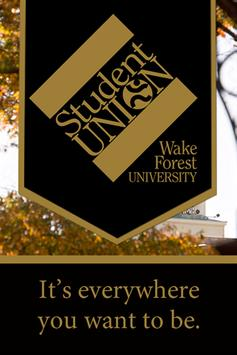 WFU Student Union poster