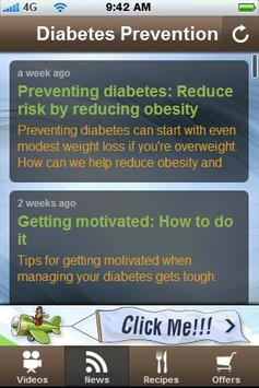 Free Diabetes Prevention Tips. poster