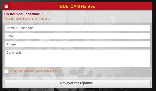 BDE ICAM Nantes apk screenshot