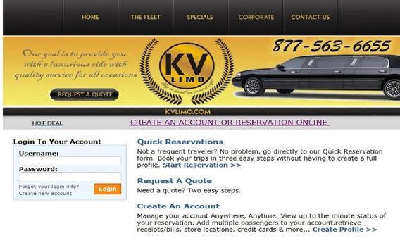 K V Limo Mobile/Tablets App screenshot 2